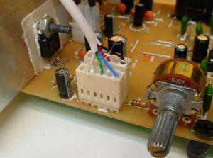 conector control volumen