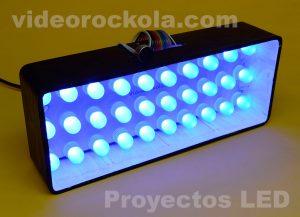 vumetro con LEDs 10 milimetros